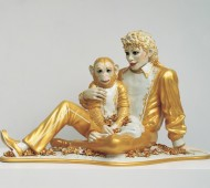 Jeff Koons, Michael Jackson and Bubbles, 1988. Porcelain; 42 × 70 1⁄2 x 32 1⁄2 in. (106.7 × 179.1 × 82.6 cm). Private collection. © Jeff Koons