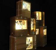 Ángel Marcos_ Vista de la exposición en Sala Canal Isabel II