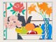 Tom Wesselmann_Still life with Lilier Petunias and Fruit