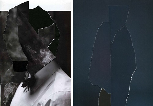 Ubay-Murillo: Portraet mit Rahmen y Bühnenbild Figure V collage sobre papel 2013