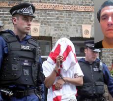 Imagen del supuesto arresto de Banksy de Nacional Report