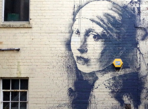 Banksy Girl with a Pierced Eardrum