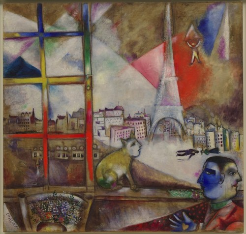Paris-a-traves-de-la-ventana-Marc-Chagall