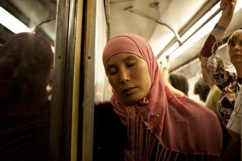 En el metro. Moscú, 2010. Vladislav Efremov. Cortesía Galería Cech