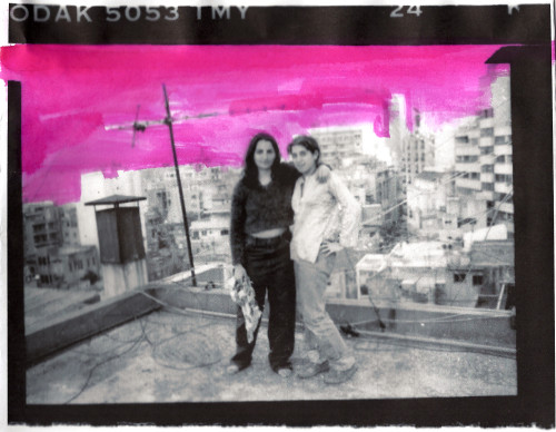 Maya-Zena.-On-a-rooftop-in-Beirut.-Circa-1995