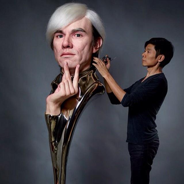 Andy Warhol KAZUHIRO TSUJI @kazustudios #escultura #sculpture #arte #art #artecontemporaneo #contemporaryart #artista #artist #museo #museum #exposicion #exhibition #warhol #AndyWarhol #KAZUHIROTSUJI #kazustudios