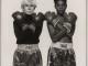 Andy Warhol y Jean Michel Basquiat retratados por Michael Halsband_1985