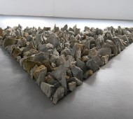 Münsterland Stones. Richard Long, 2008