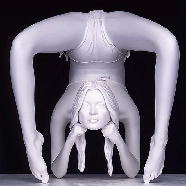 Obra de Marc Quinn #escultura #sculpture #arte #art #artecontemporáneo #contemporaryart #exposición #exhibicion #museo #museum #galeriadearte #artgallery #artista #artist #contorsionista #MarcQuinn