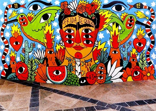 Ricardo Cavolo - Frida mural in Mexico