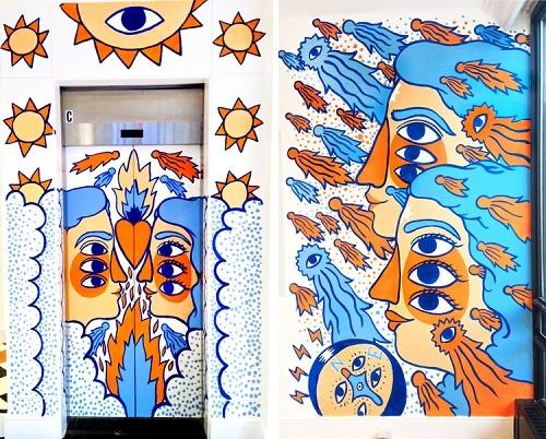 Ricardo Cavolo -  Mural for 1ELEVEN. Ottawa (Canada).