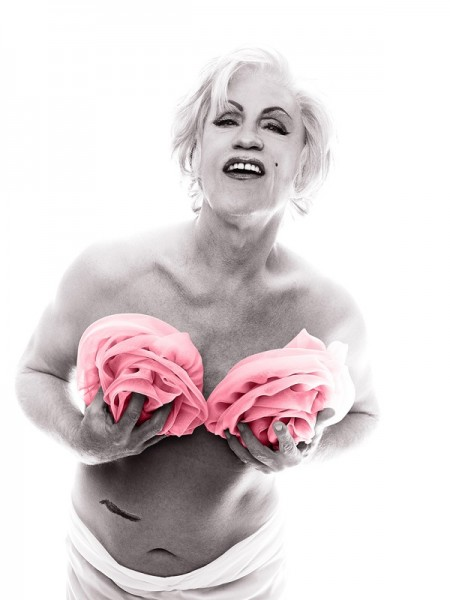 Bert Stern _ Marilyn in Pink Roses (from The Last Session, 1962), 2014