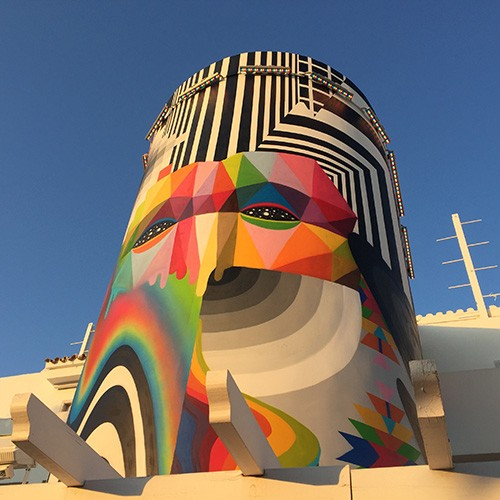 Wall Burners Okuda y Pantone