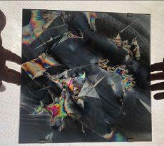 François Bucher, Un evento celeste, sin palabras para describirlo, deberían haber enviado a un poeta (2017), Técnica mixta, 30 x 30 cm. Galería Alarcón Criado. Gentileza arteBA Fundación.