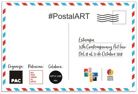 Convocatoria POSTALART by PAC para ESTAMPA 2018