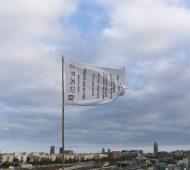 Ampparito bandera etiqueta cielo
