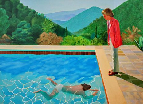 Portrait of an Artist (Pool with two figures) - David Hockney