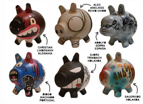 varios cerditos customizados PIGGY BANK PAC